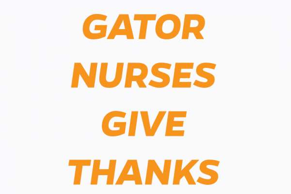 Gator Nurses give thanks
